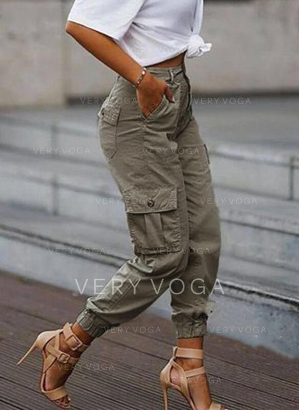 Taschen Übergröße Tarnen Beschnitten Lässige Kleidung Stammes Hosen