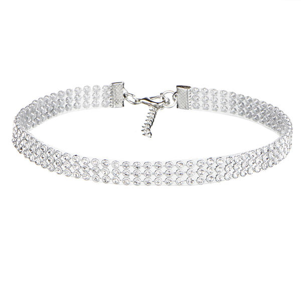 Elegante Aleación Diamantes de imitación con Rhinestone Señoras' Collar de la manera