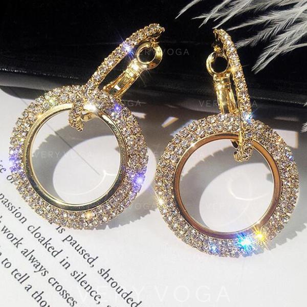 5d05bd5923e0 Hermoso Aleación Diamantes de imitación con Rhinestone De mujer Pendientes  de la manera (Sold in