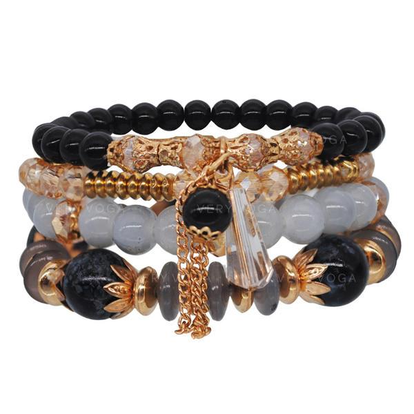 Unique Alliage Cristal Acrylique Dames Bracelets de mode