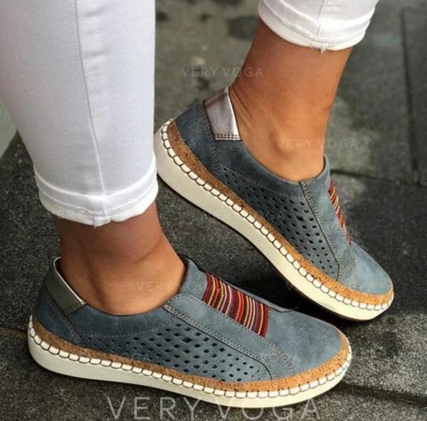Vrouwen Kunstleer Flat Heel Flats met Hol-out schoenen