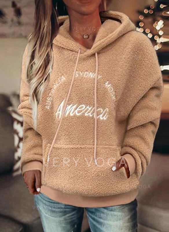 Print Figure Pockets Long Sleeves Hoodie