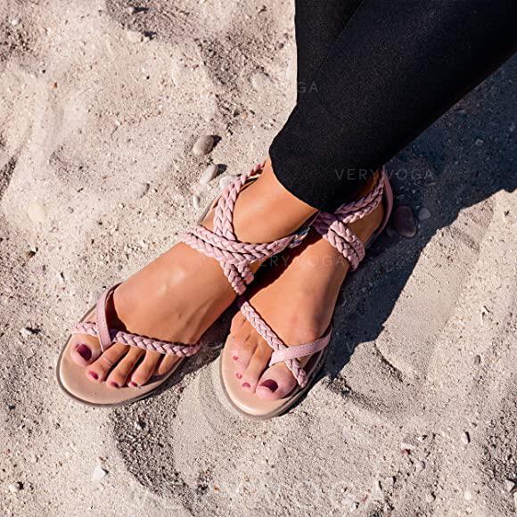 Γυναίκες PU Επίπεδη φτέρνα Σανδάλια Διαμερίσματα παπούτσια