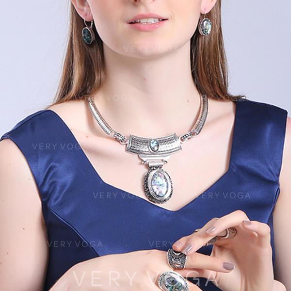 Beautiful Fashionable Exotic Alloy Turquoise Unisex Necklaces