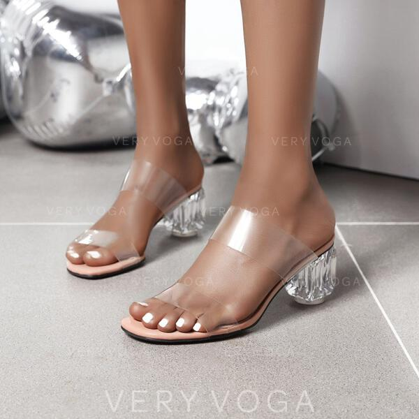 Kvinder Plast Stor Hæl Pumps sko