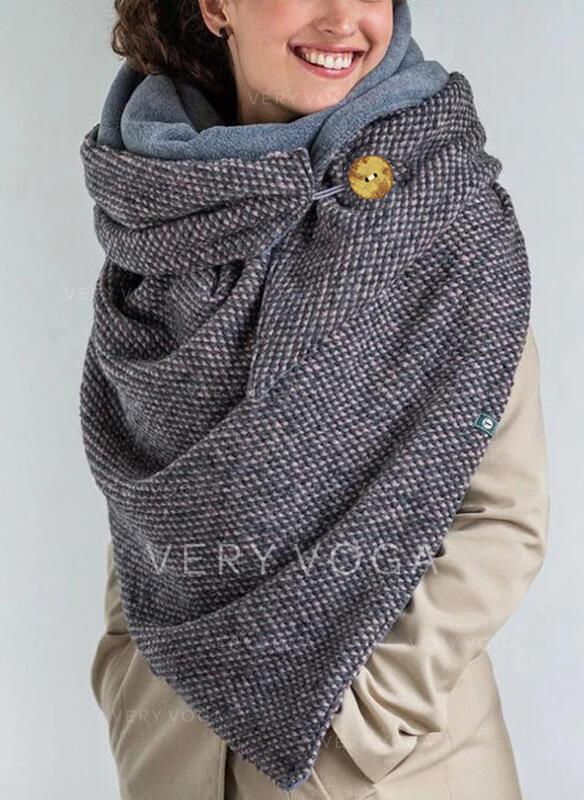 Colore solido/Retro /Annata Collo/moda/Confortevole Sciarpa