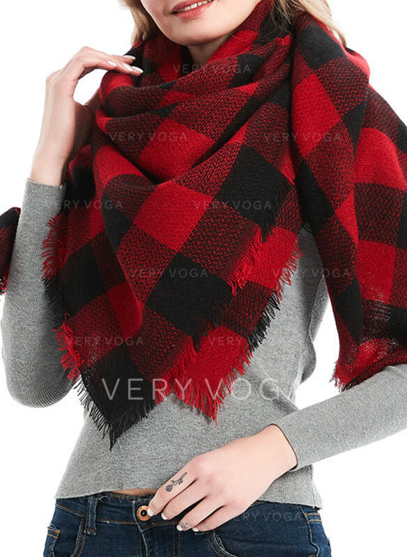 Plaid attractive/fashion/Comfortable/Christmas Scarf