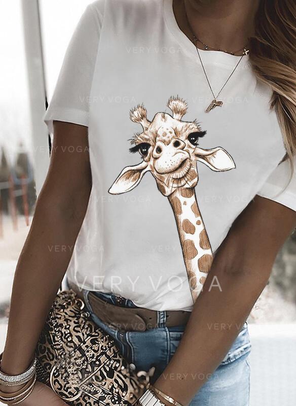 Cuello Redondo Manga Corta Camisetas