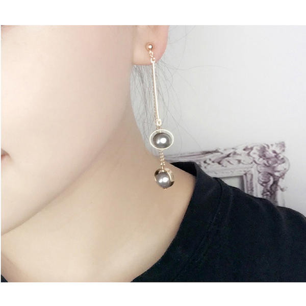 Elegante La perla de faux cobre con Perlas de imitación Señoras' Pendientes de la manera