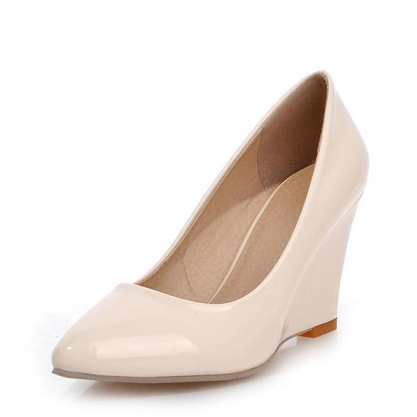 Vrouwen Patent Leather Wedge Heel Wedges met Anderen schoenen