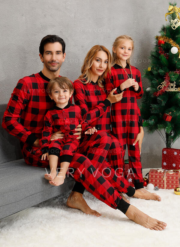 Plaid Voor Gezinnen Kerst Pyjamas
