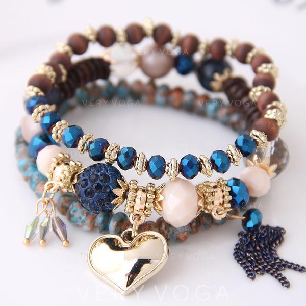 En forme de coeur Alliage Résine Femmes Bracelets (Lot de 3)