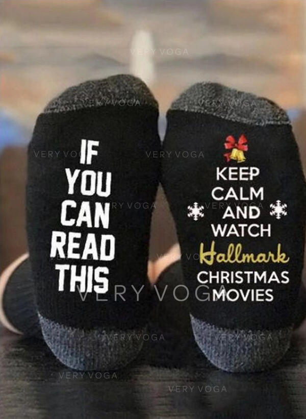 Buchstaben/Druck Komfortabel/Weihnachten/Crew Socks/Unisex Socken
