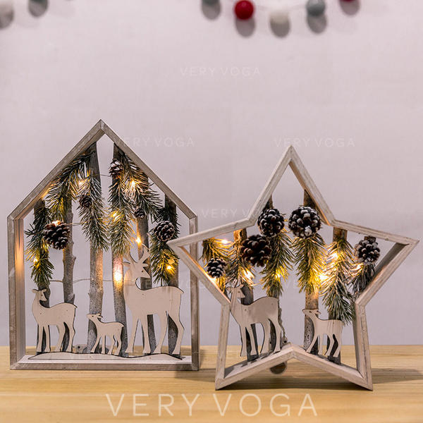 Bardzo dobra Boże Narodzenie Ozdoby Drewno Dekoracje świąteczne (281190201 HZ27