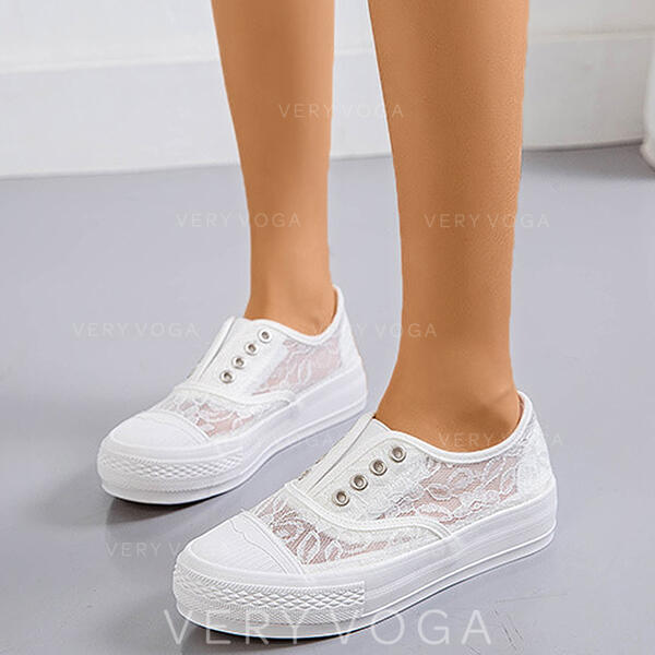 Women's Lace PU Casual Outdoor With Stitching Lace shoes
