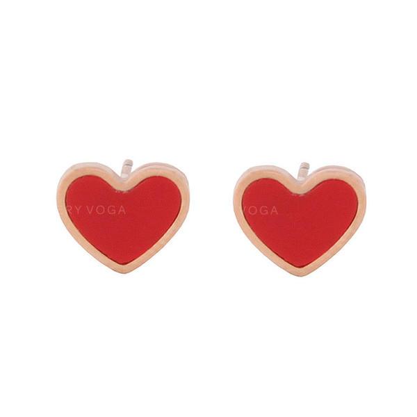 Heart Shaped Titanium Steel Women's Earrings