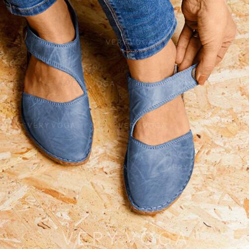 Γυναίκες Καστόρι Επίπεδη φτέρνα Διαμερίσματα Κλειστά παπούτσια Με Velcro παπούτσια