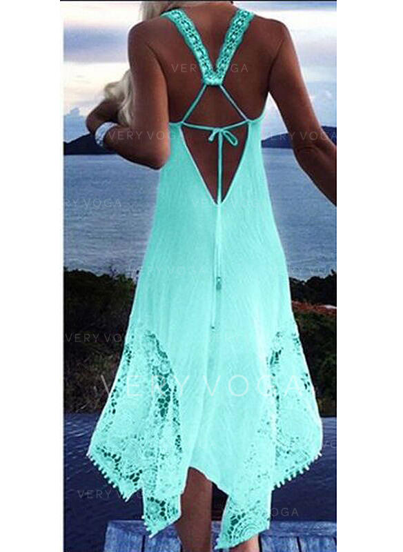 Solid Color Halter Sexy Cover-ups Swimsuits