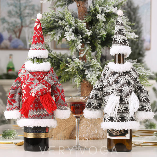 Merry Christmas Cloth Bottle Cover