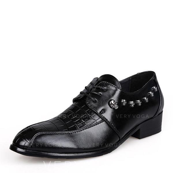 šněrovací Společenské boty Mikrovlákno Kůže Pánské Pánská obuv Oxford e4f565770b