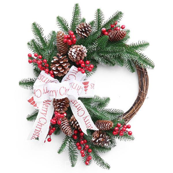 Feliz Navidad PVC Decoración navideña Corona de Navidad