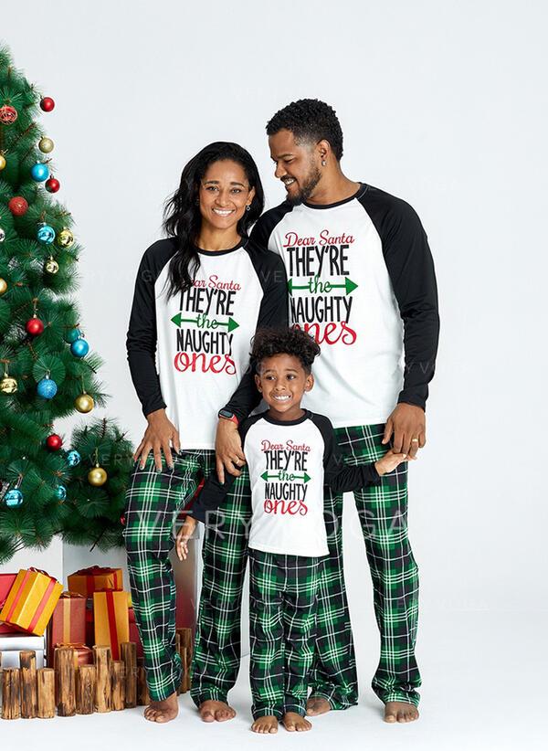 Karierte Schreiben Drucken Passende Familie Christmas Pajamas