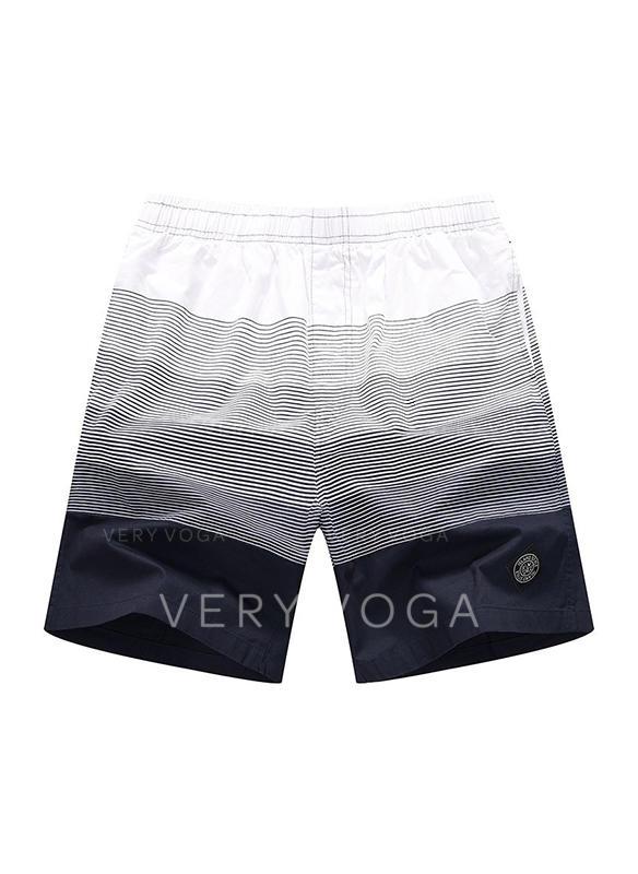 De Los Hombres Color de empalme Pantalones cortos