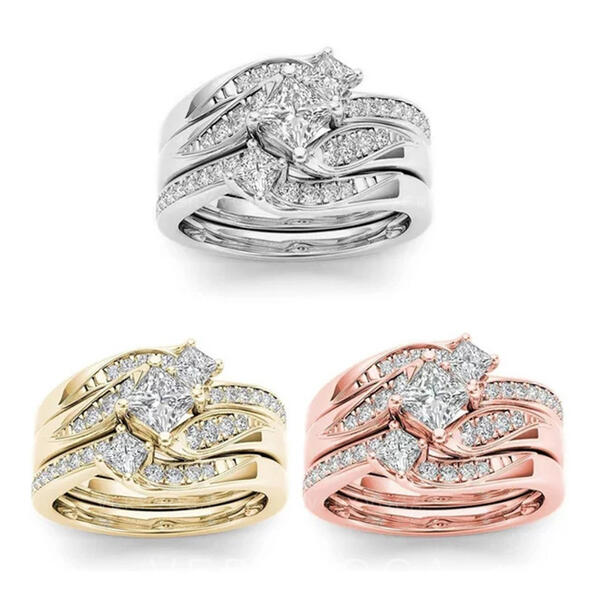 Hottest Fancy Alloy Zircon With Zircon Rings