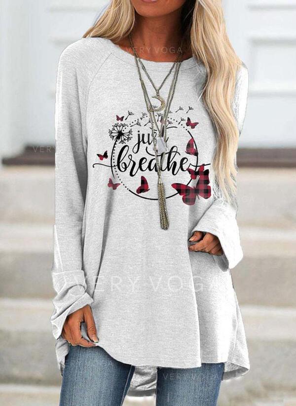 Animal Print Round Neck Long Sleeves Sweatshirt