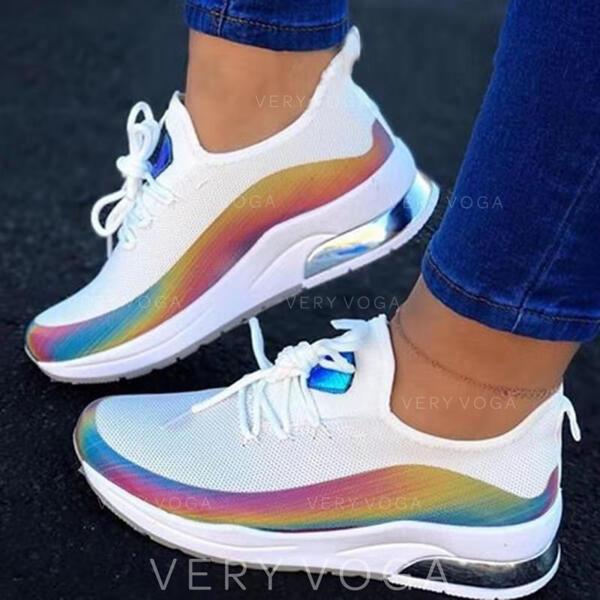 Bayanlar PU gündelik atletik Yürüyüş Ile Bağcıklı ayakkabı ayakkabı