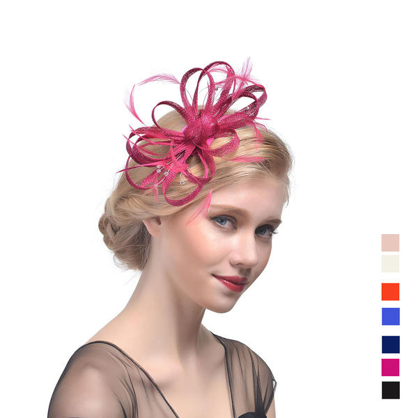 c124aacb0 [US$ 12.99] Ladies' Beautiful Cambric With Feather Fascinators/Tea Party  Hats - VeryVoga