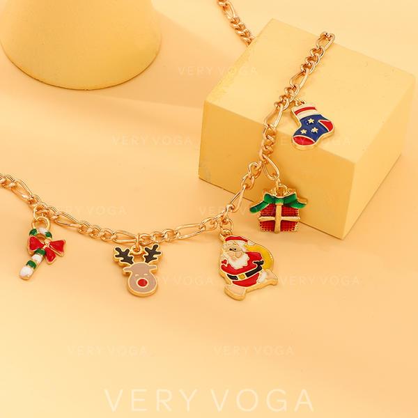 Unique Shining Alloy Bracelets Christmas Jewelry