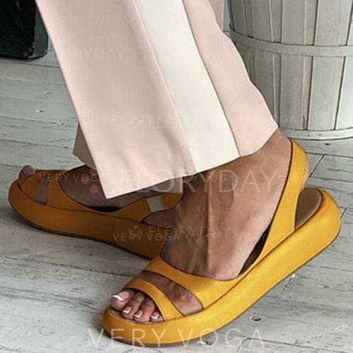 Women's PU Flat Heel Sandals Flats With Buckle shoes