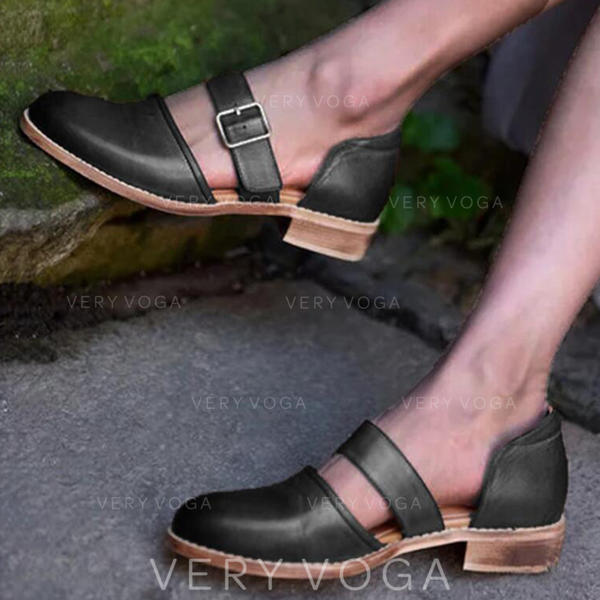 Dámské PU Nízký podpatek Sandály S Přezka obuv