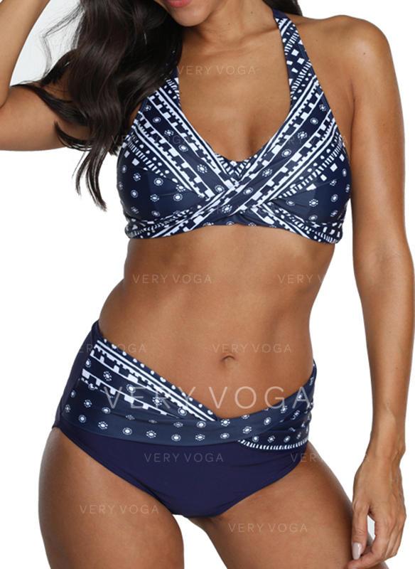 Punto Stampa Paisley A bikini Alla moda Retro Bikinis Costumi Da Bagno