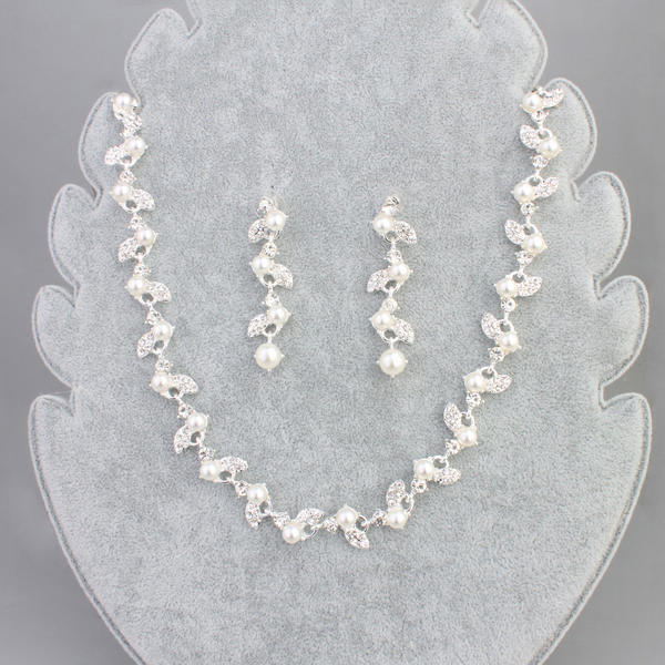 Beautiful Alloy With Imitation Pearl Jewelry Sets (Set of 2)