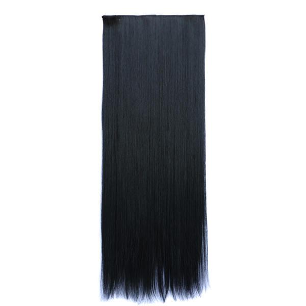 448fcc75 Rett Syntetisk hår Clip-in hår-extension (Selges i et enkelt stykke ...