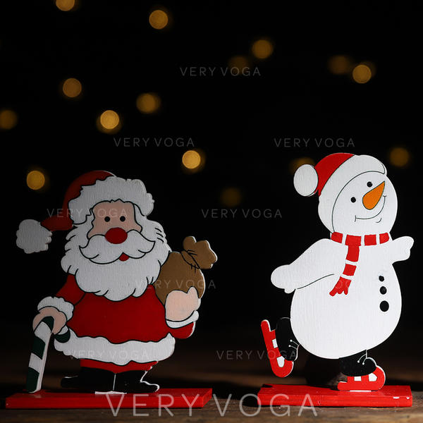 Snowman Reindeer Santa Christmas Tabletop Wooden Christmas Décor Diy Craft
