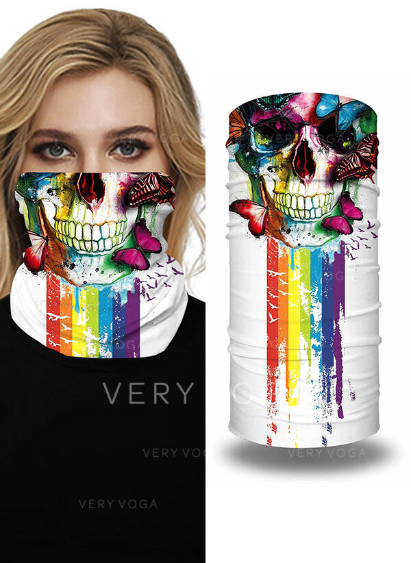 Breathable/Protective/Full Coverage/Multi-functional/Seamless/Dust Proof/Skull Print Bandanas