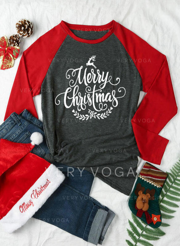 Polyester Print Jul Jerseykjorte