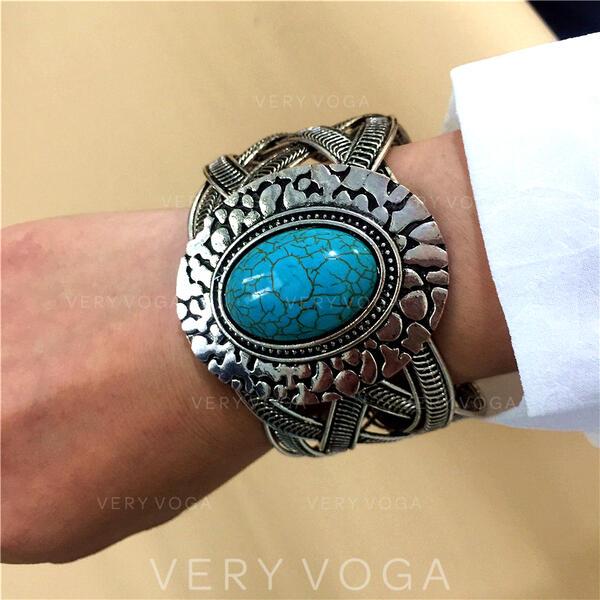 Exotisch Boho Legering Turkoois met Juweel Armbanden