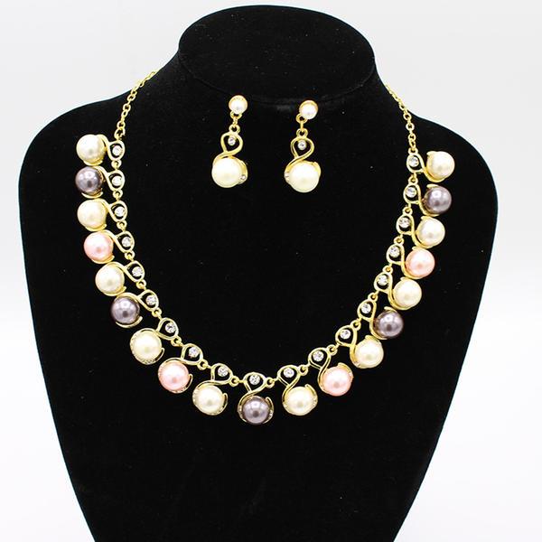 Hermoso Aleación con Perlas de imitación Sistemas de la joyería