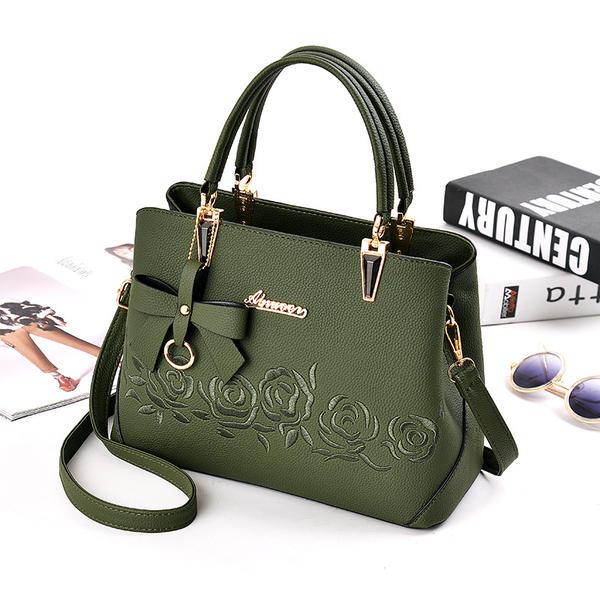 Pretty/Floral PU Satchel/Shoulder Bags