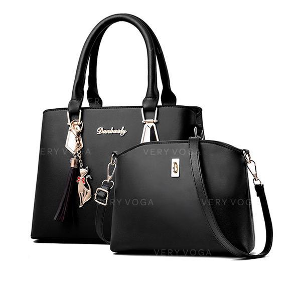 Basit/Annemin çantası omuz çantası/Omuz çantaları/Çanta Setleri