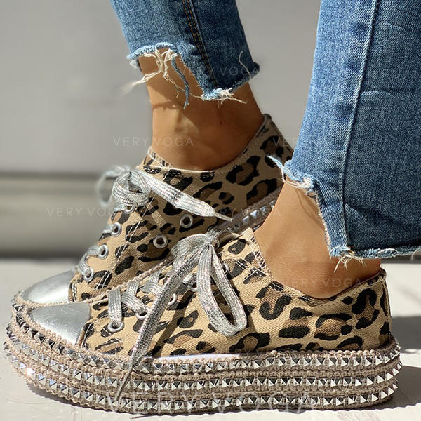 Women's Canvas Casual Outdoor With Rivet Lace-up shoes (1008286499)