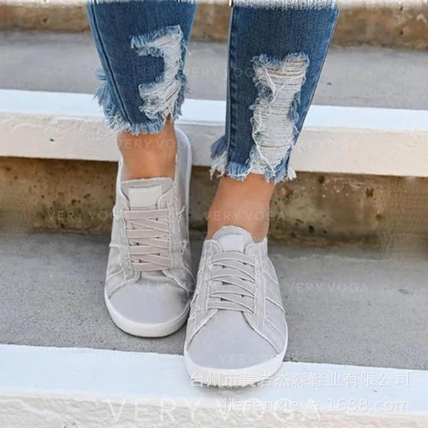 Frauen Baumwollstoff Lässige Kleidung mit Zuschnüren Schuhe