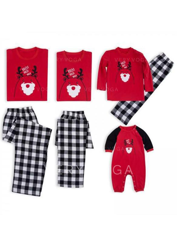 Cervo Famiglia Partita Di Natale Pajamas