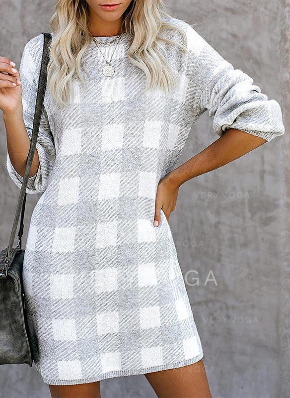 Round Neck Sweater Dress