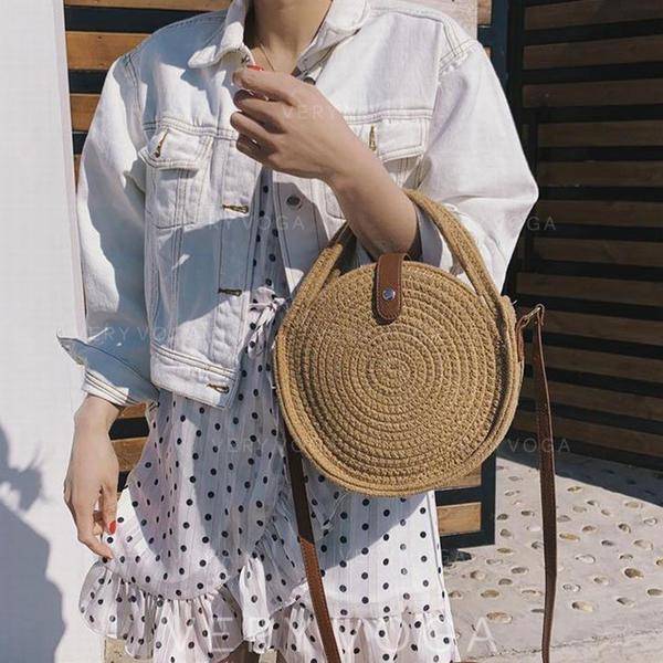 Einfarbig Baumwolle Umhängetaschen/Schultertaschen/Strandtaschen