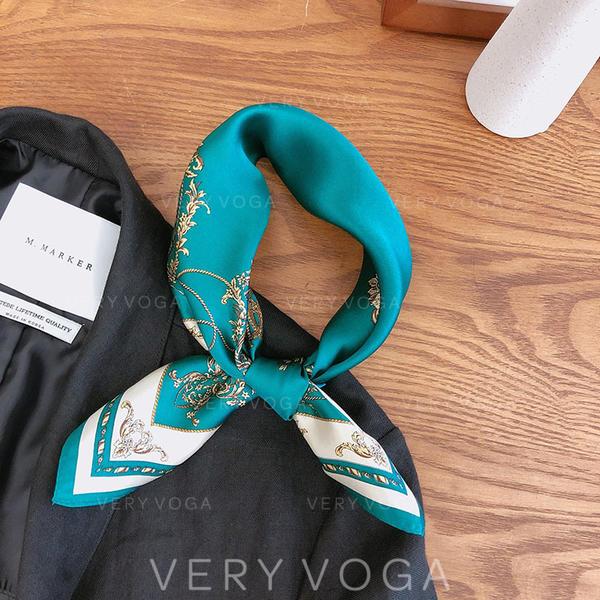 Retro /Wijnoogst Plein/lichtgewicht Vierkante sjaal